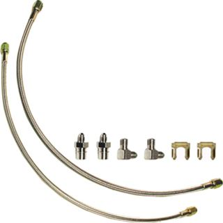 Picture of CE-6013W - Stainless Braided Caliper Flex Hose Kit (for Wilwood Brakes)