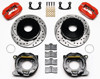 """Picture of CE-6014PB2RX - Wilwood Disc Brake Kit w/ Internal E-Brake - 12.19"""" Cross Drilled Rotors & Staggered Red Calipers (Early LB)"""