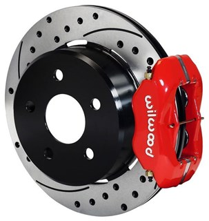 "Picture of CE-6014PB3RX - Wilwood Disc Brake Kit w/ Internal E-Brake - 12.19"" Cross Drilled Rotors & Red Calipers (Late LB)"