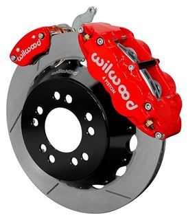 "Picture of CE-6014-14262R - Wilwood Disc Brake Kit w/ E-Brake - 12.88"" Slotted Rotors & Red Calipers (for Currie Floater)"