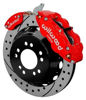 "Picture of CE-6014-14262DR - Wilwood Disc Brake Kit w/ E-Brake - 12.88"" Drilled & Slotted Rotors & Red Calipers (for Currie Floater)"