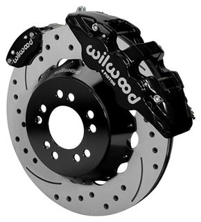"Picture of CE-6014-14263D - Wilwood Disc Brake Kit w/ E-Brake - 14"" Drilled & Slotted Rotors & Black Calipers (for Currie Floater)"