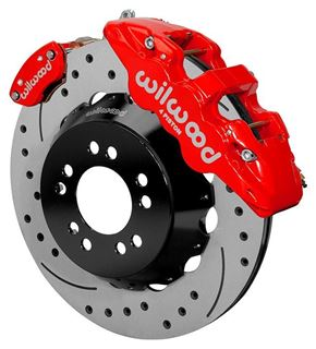 "Picture of CE-6014-14263DR - Wilwood Disc Brake Kit w/ E-Brake - 14"" Drilled & Slotted Rotors & Red Calipers (for Currie Floater)"