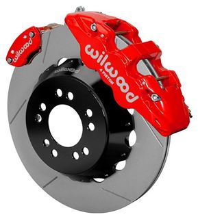 "Picture of CE-6014-14263R - Wilwood Disc Brake Kit w/ E-Brake - 14"" Slotted Rotors & Red Calipers (for Currie Floater)"