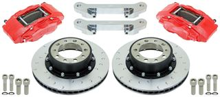 """Picture of CE-BKF5459AX13 - 14"""" Alcon Jeep JK Wrangler Front Brake Kit (for Currie 1 Ton Frontends w/5 lug)"""