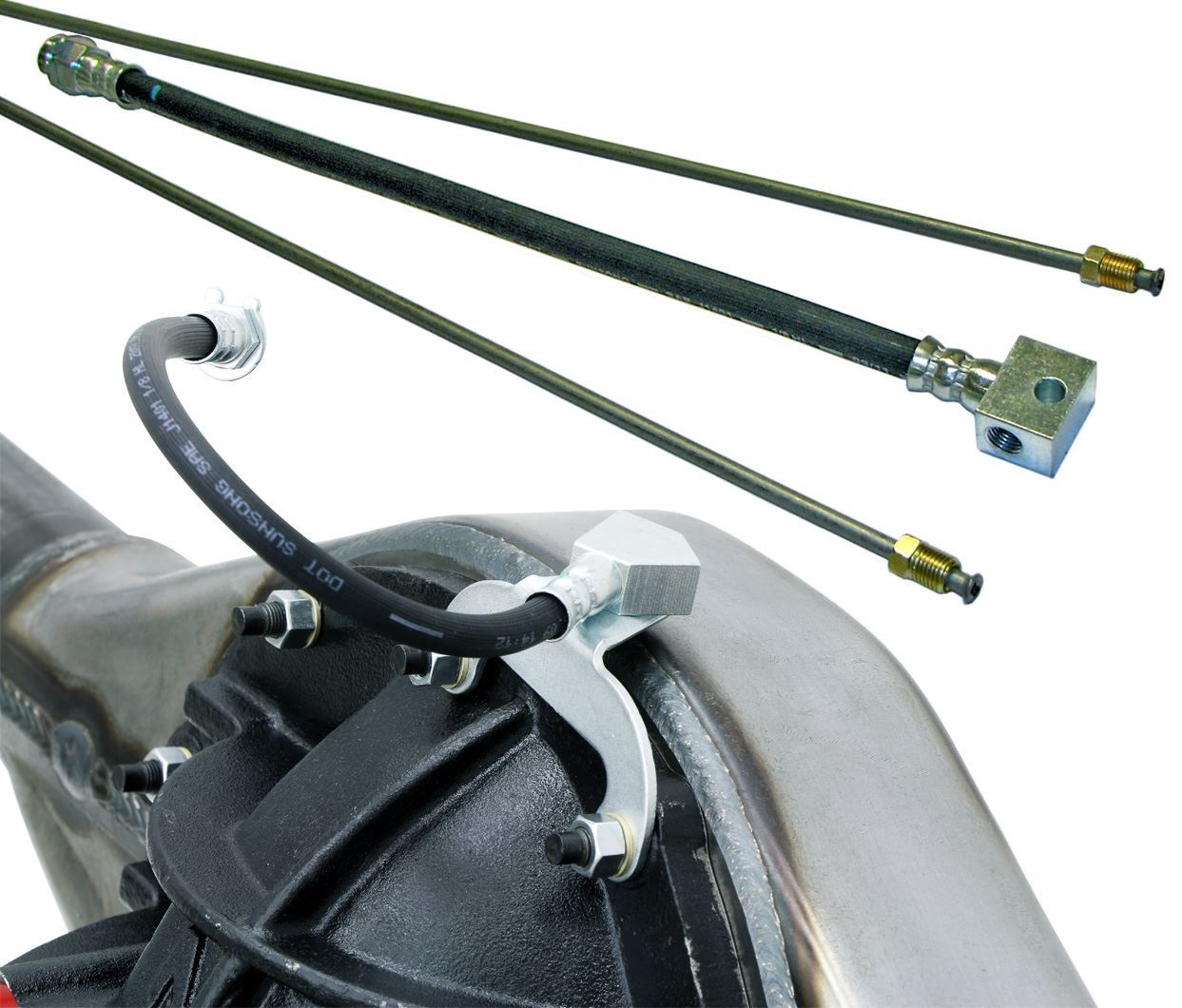 Carbolook Hose /& Stainless Green Banjos Pro Braking PBK9429-CAR-GRE Front//Rear Braided Brake Line
