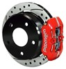 Wilwood 11-Inch Disc Brakes, Drilled & Slotted Dynapro Caliper Red