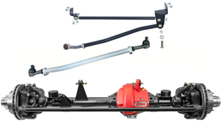 Currie Extreme 60 - TJ Front, Frame Brace, Trac Bar, and Drag Link