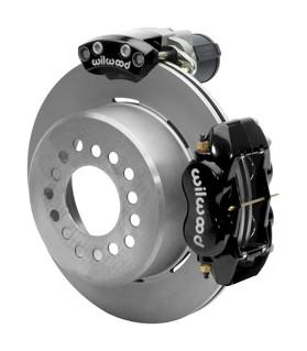 Wilwood Dynalite 12-Inch Rear Disc Brake With Electronic Parking Brake - Plain Rotor & Black Caliper