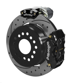 Wilwood Dynalite 12-Inch Rear Disc Brake With Electronic Parking Brake - Drilled & Slotted Rotor, Black Caliper