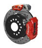 Wilwood Dynalite 12-Inch Rear Disc Brake With Electronic Parking Brake - Drilled & Slotted Rotor, Red Caliper