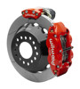 Wilwood Dynalite 13-Inch Rear Disc Brake With Electronic Parking Brake - Slotted Rotor, Red Caliper