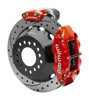 Wilwood Dynalite 13-Inch Rear Disc Brake With Electronic Parking Brake - Drilled & Slotted Rotor, Red Caliper