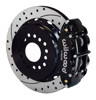 Wilwood 13-Inch Disc Brakes, Drilled & Slotted, Dynalite Caliper Black