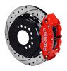 Wilwood 13-Inch Disc Brakes, Drilled & Slotted, Superlite Caliper Red