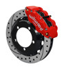 Wilwood Superlite 13-Inch Front Disc Brake Kit With Drilled and Slotted Rotors and Red Calipers