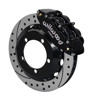 Wilwood Superlite 13-Inch Front Disc Brake Kit With Drilled and Slotted Rotors and BlackCalipers