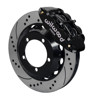 Wilwood Superlite 14-Inch Front Disc Brake Kit with Drilled and Slotted Rotors and Black Calipers