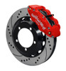 Wilwood Superlite 14-Inch Front Disc Brake Kit with Drilled and Slotted Rotors and Red Calipers