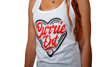 Currie Heart Womens Tank Top - White