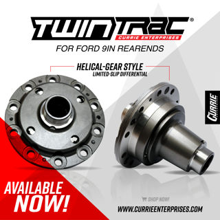 Currie TwinTrac Helical-Gear Posi